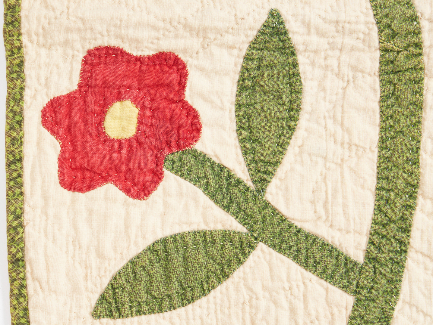 Lot 413: Southern/East TN Quilt, Whig Rose Pattern