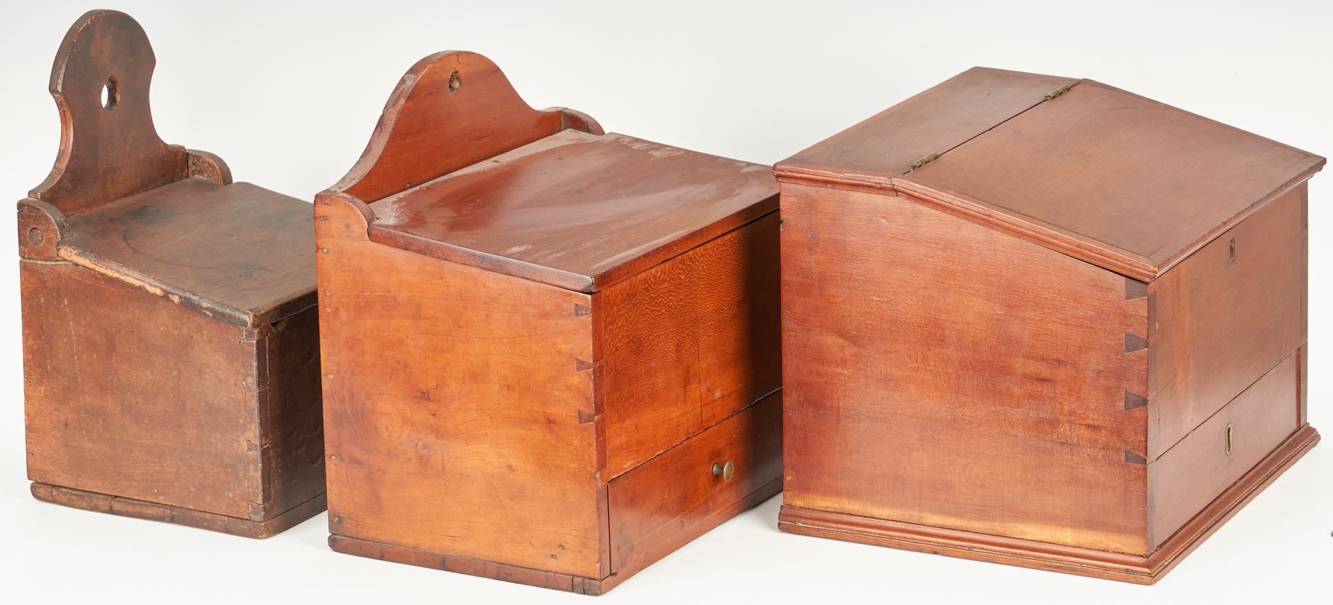 Lot 416: 3 American Storage Boxes, incl. Wall Boxes