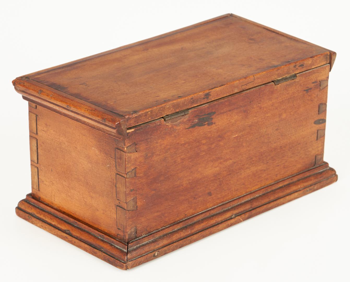 Lot 417: Mahogany Spice Chest & Inlaid Maple Box