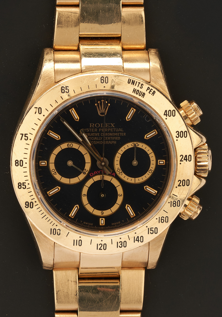 Lot 41: Mens 18K Rolex Cosmograph Daytona 18K Watch