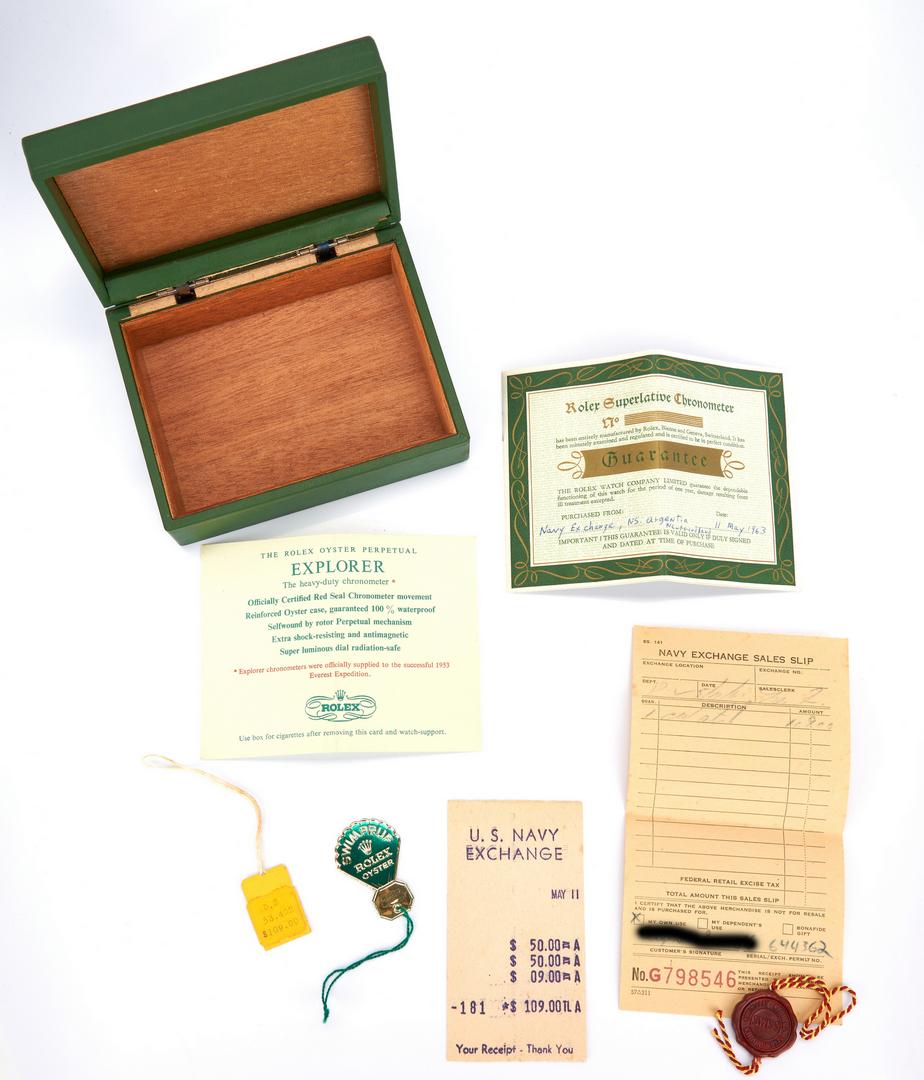 Lot 42: Vintage Mens Rolex Explorer 1016,  Box & Papers