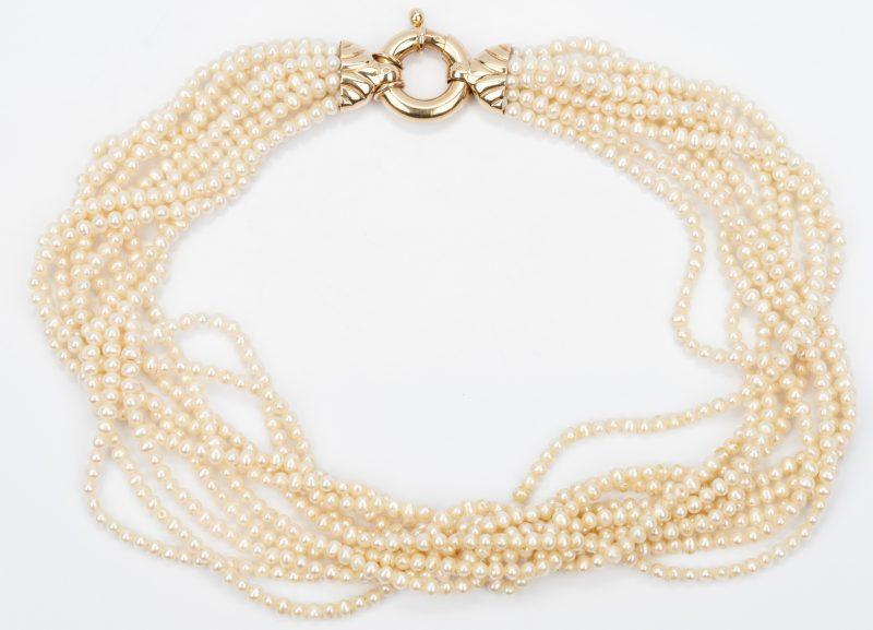 Lot 433: Mikimoto 10 Strand Pearl Necklace
