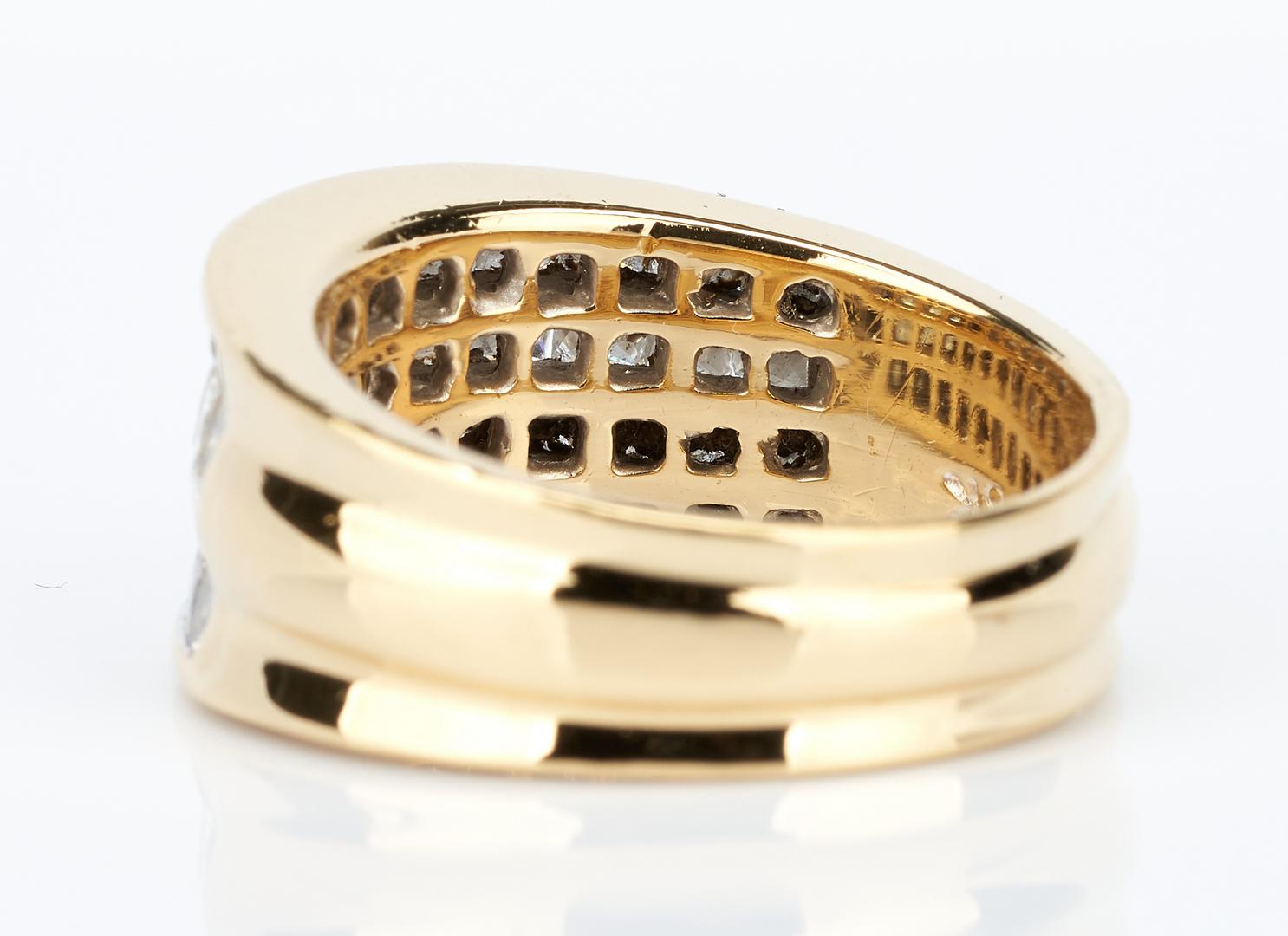 Lot 441: Ladies 18K Diamond Tapered Band & Diamond Ring
