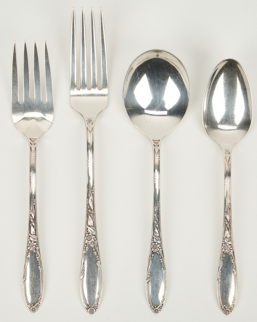Lot 451: Heirloom Sterling Flatware, Virginia Pattern, 72 pcs.