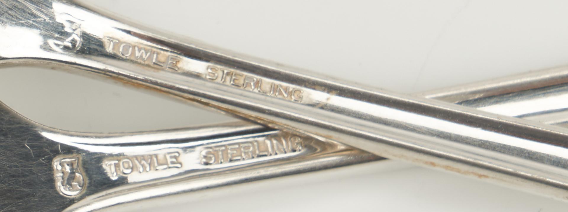Lot 452: 45 pcs. Sterling Flatware, incl. Towle Chippendale