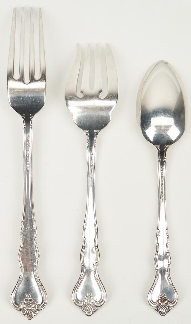 Lot 454: 45 Pcs. Reed & Barton Savannah Sterling Silver Flatware