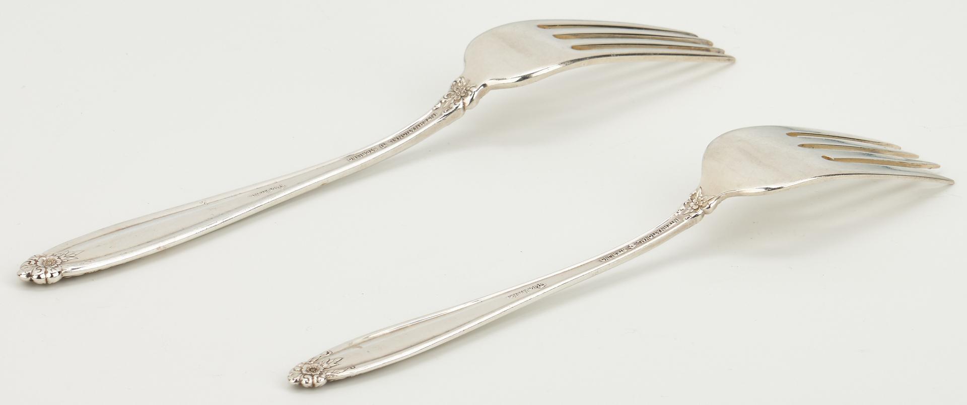 Lot 456: 69 pcs. International Prelude Sterling Silver