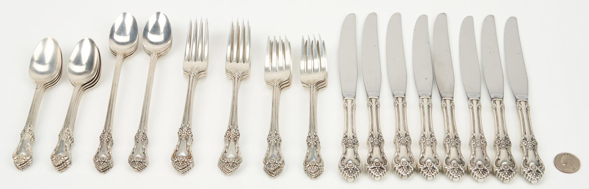 Lot 457: 40 Pcs. Sterling Silver Flatware, incl. Oneida