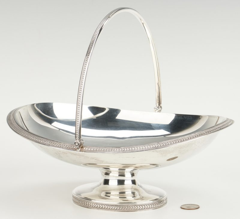 Lot 462: Sterling Silver Cake Basket, 19th c. Tiffany & Co. Mark