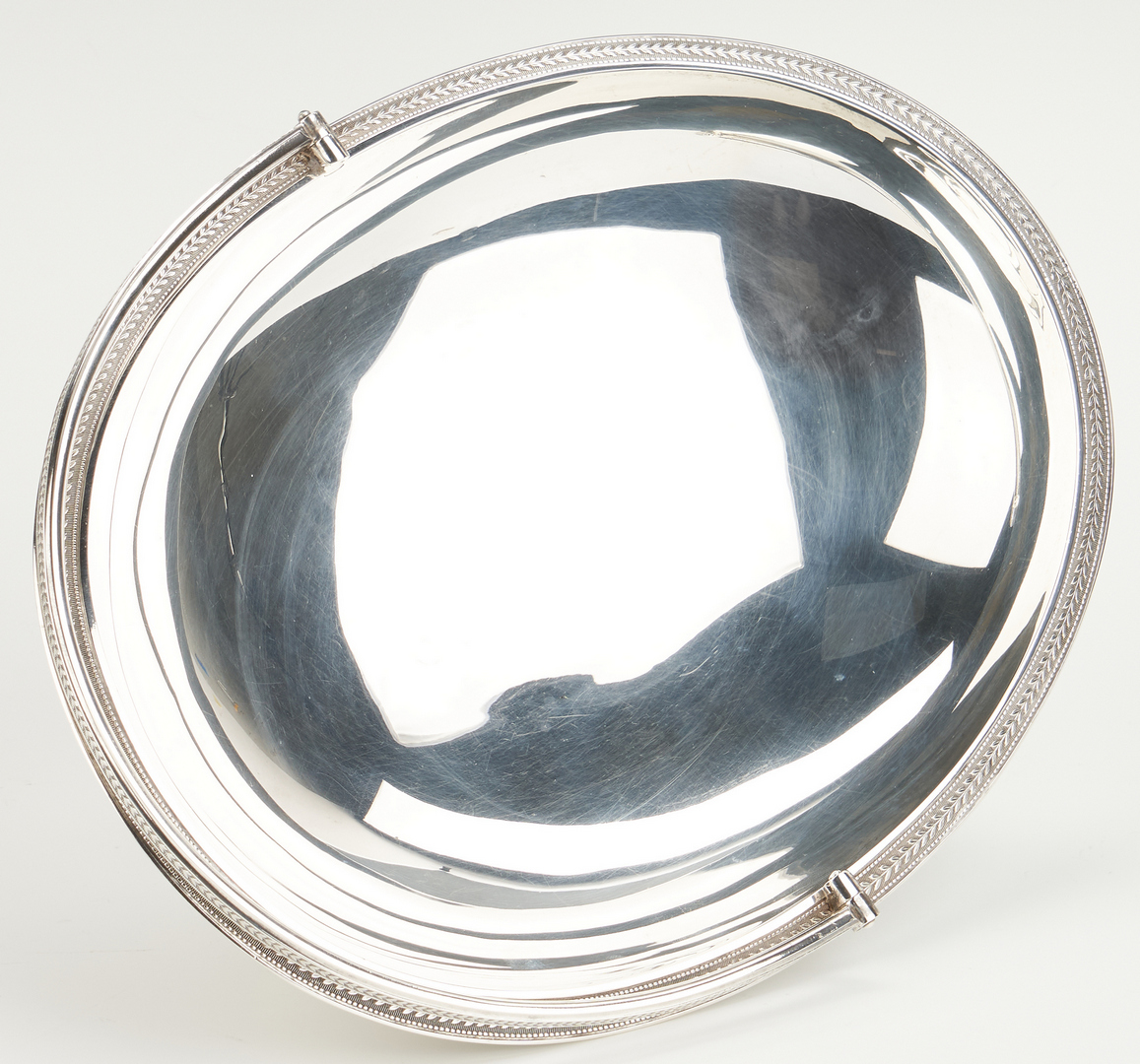 Lot 462: Sterling Silver Cake Basket, 19th c. Tiffany & Co. Mark
