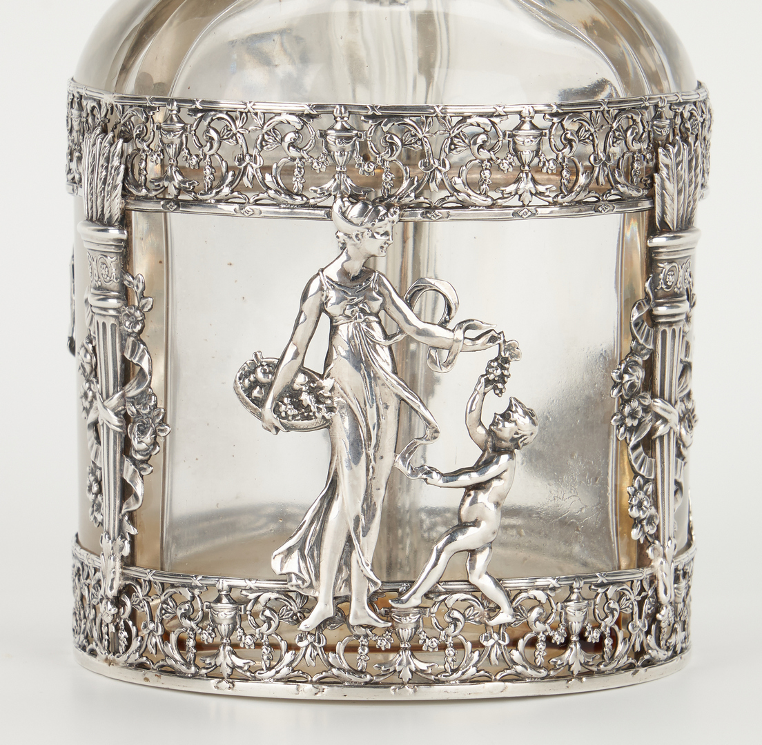 Lot 469: 4 Glass and Silver Items, incl. ABPG, Sterling