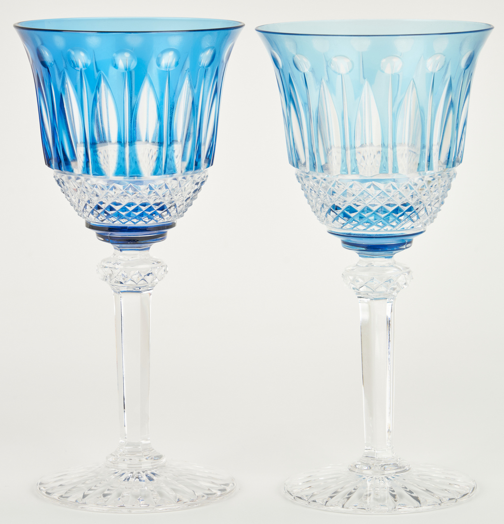 Lot 470: 16 St. Louis Crystal Goblets, Multicolored