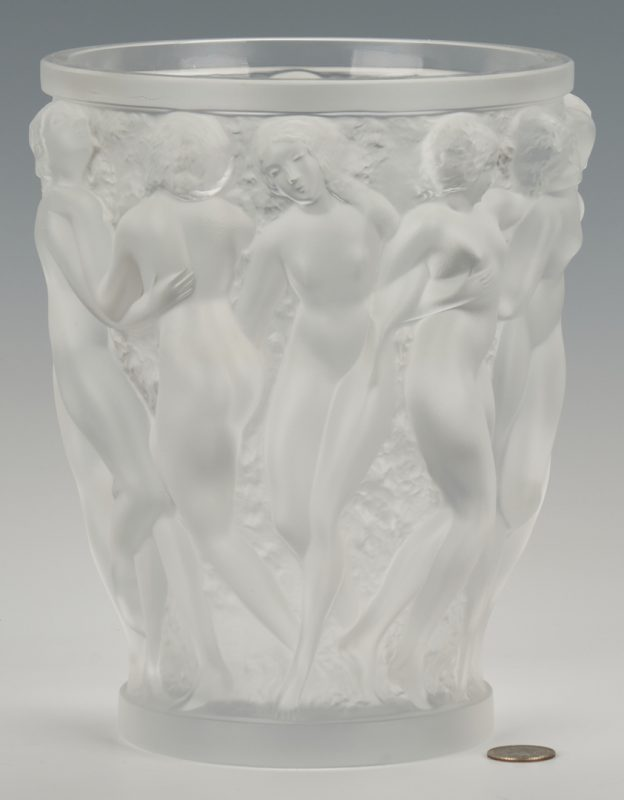 Lot 471: Lalique Bacchante Crystal Vase