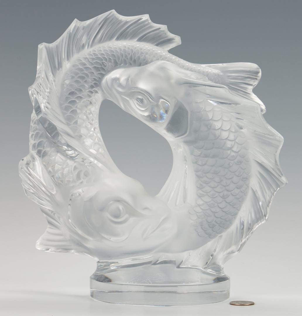Lot 472: Lalique Deux Poissons Sculpture
