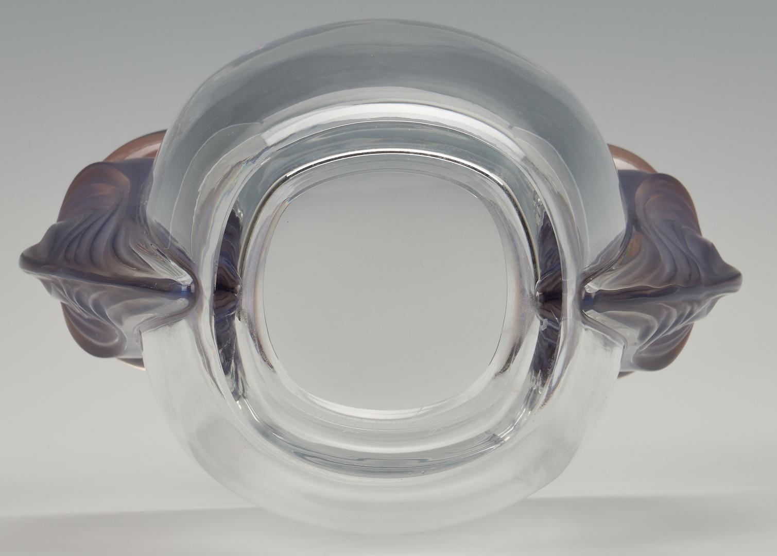 Lot 473: Lalique Clematites Crystal Vase