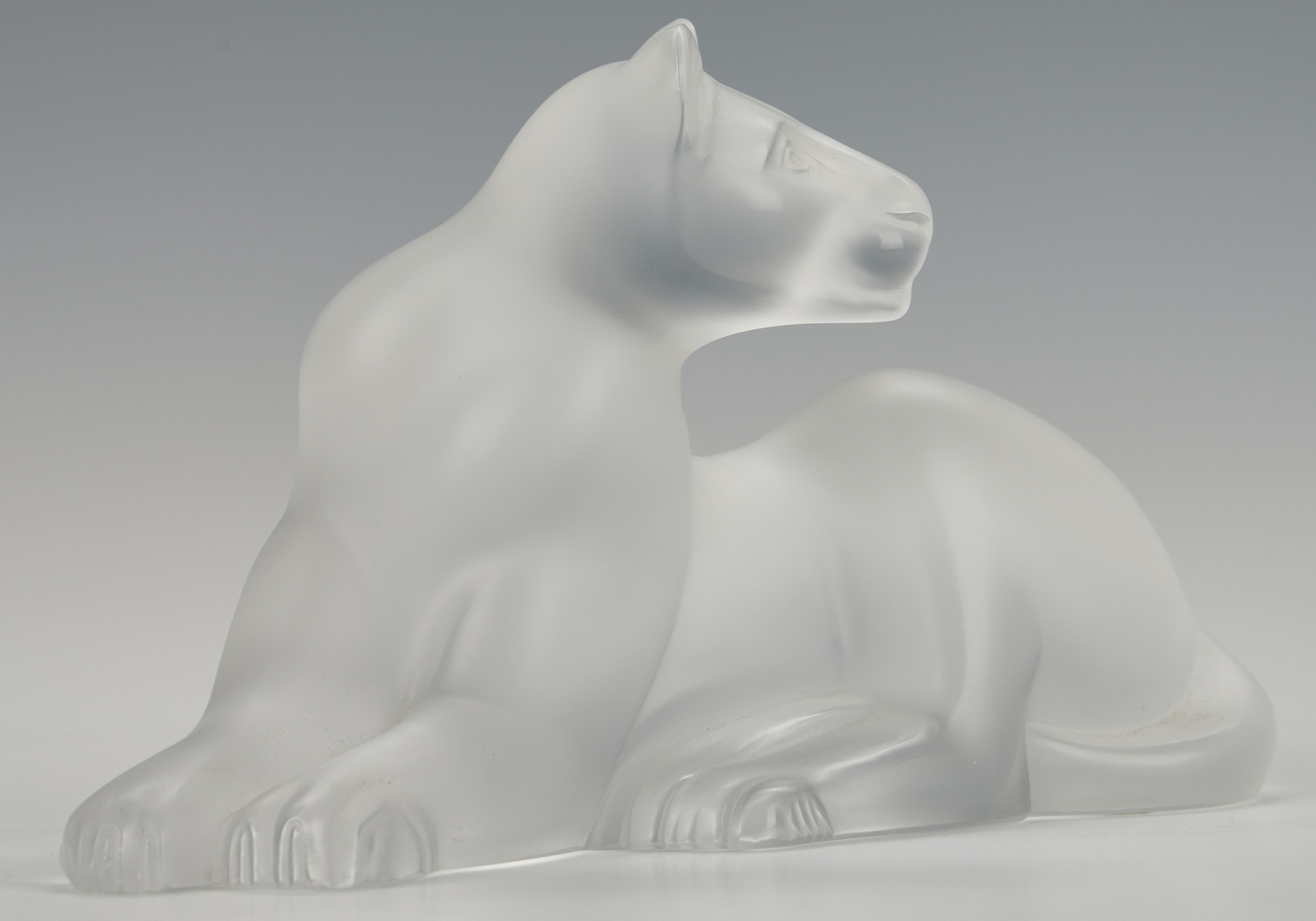 Lot 474: Lalique Crystal Lion and Lioness