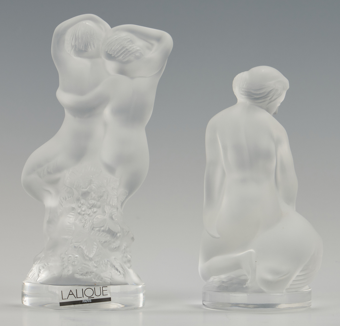 Lot 478: 4 Lalique Nude Female Figures