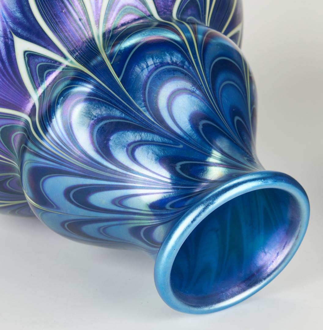 Lot 481: 2 Art Glass Vases, incl. Orient & Flume