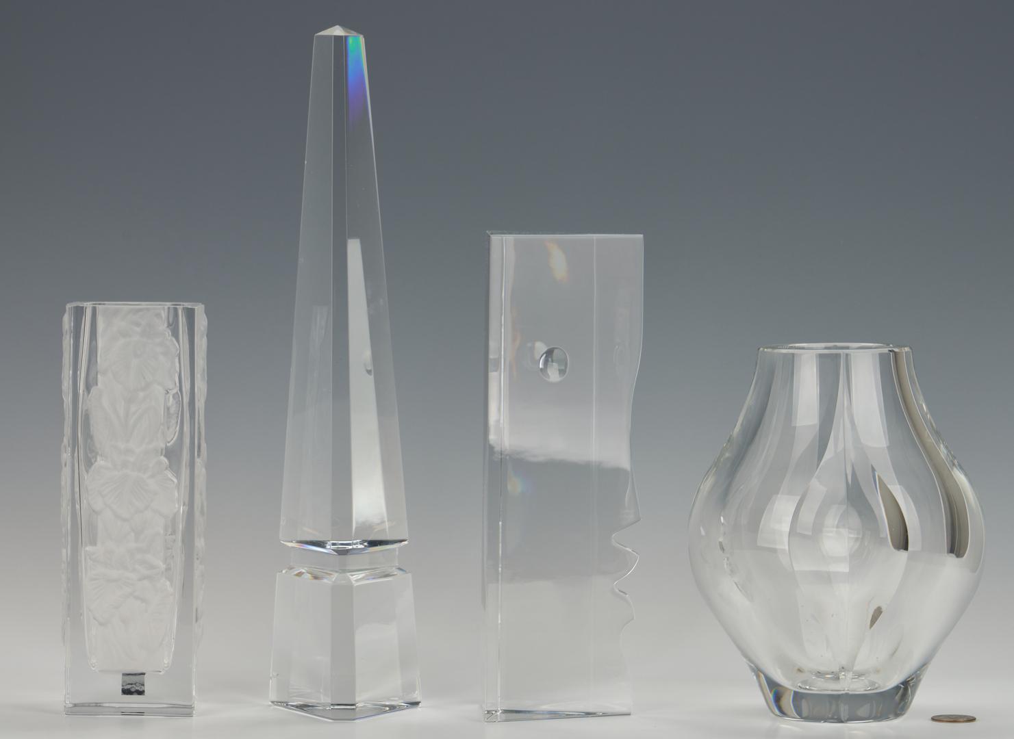 Lot 482: 4 pcs. Crystal, incl. Richard Rigot Baccarat Abstract Face