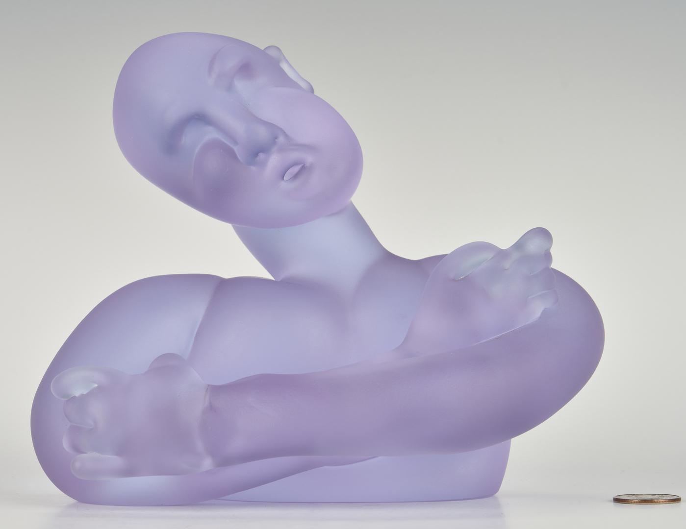 Lot 484: Richard Jolley Art Glass Torso