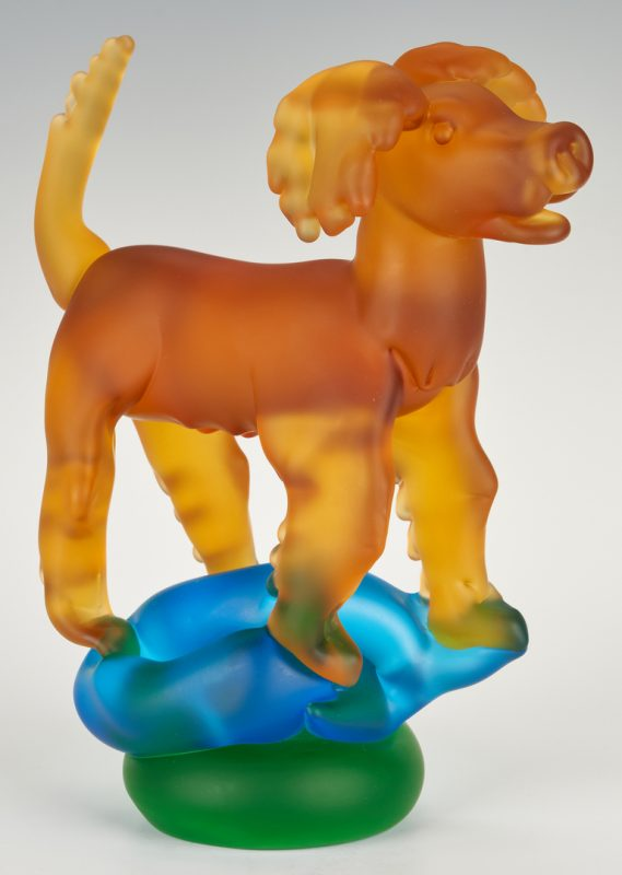 Lot 485: Richard Jolley Art Glass Dog Sculpture