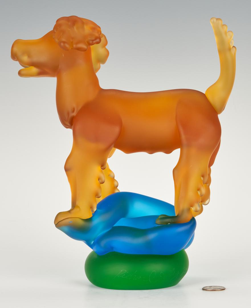 Lot 485: Richard Jolley Art Glass Dog Sculpture