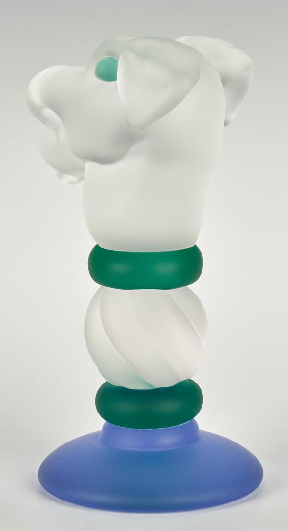 Lot 486: Richard Jolley Art Glass Dog Totem Sculpture
