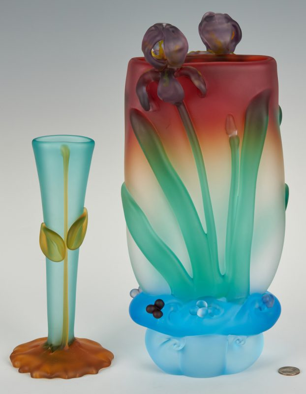 Lot 487: 2 Tommie Rush Art Glass Vases