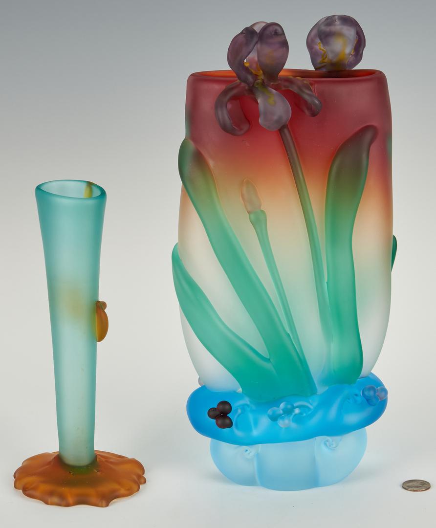 Lot 487: 2 Tommie Rush Art Glass Vases