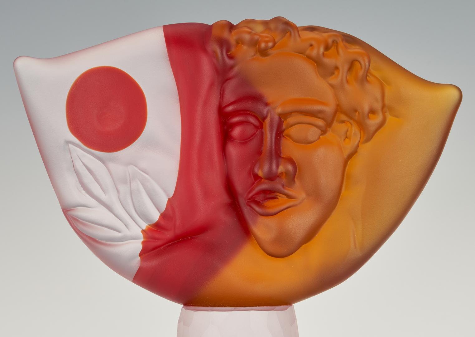 "Lot 488: Richard Jolley Art Glass ""Tabula Rasa"" Sculpture"