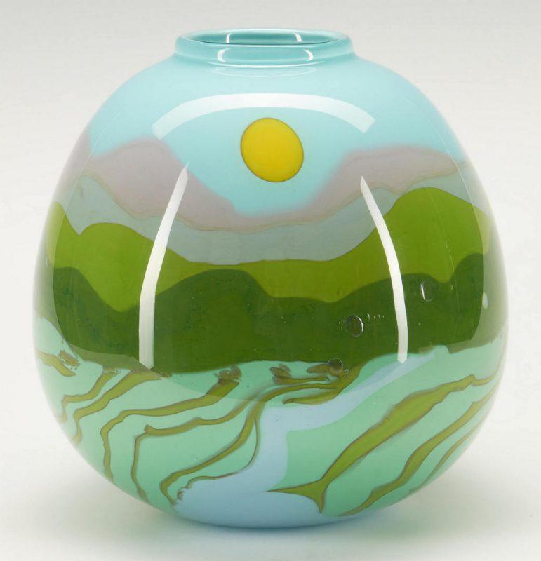 Lot 494: Mark Peiser Art Glass Vase