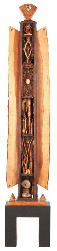 Lot 498: Wooden Sculpture, 7 Chakras