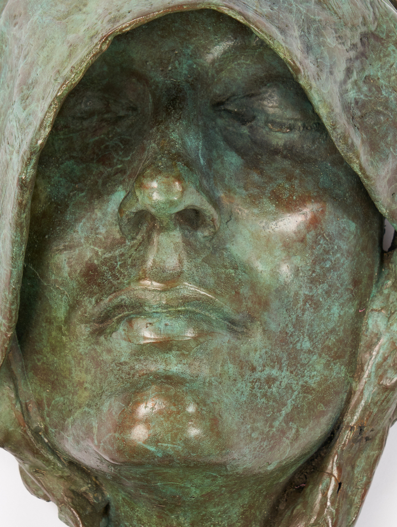 Lot 500: William Ludwig Bronze Sculpture of Shrouded Face