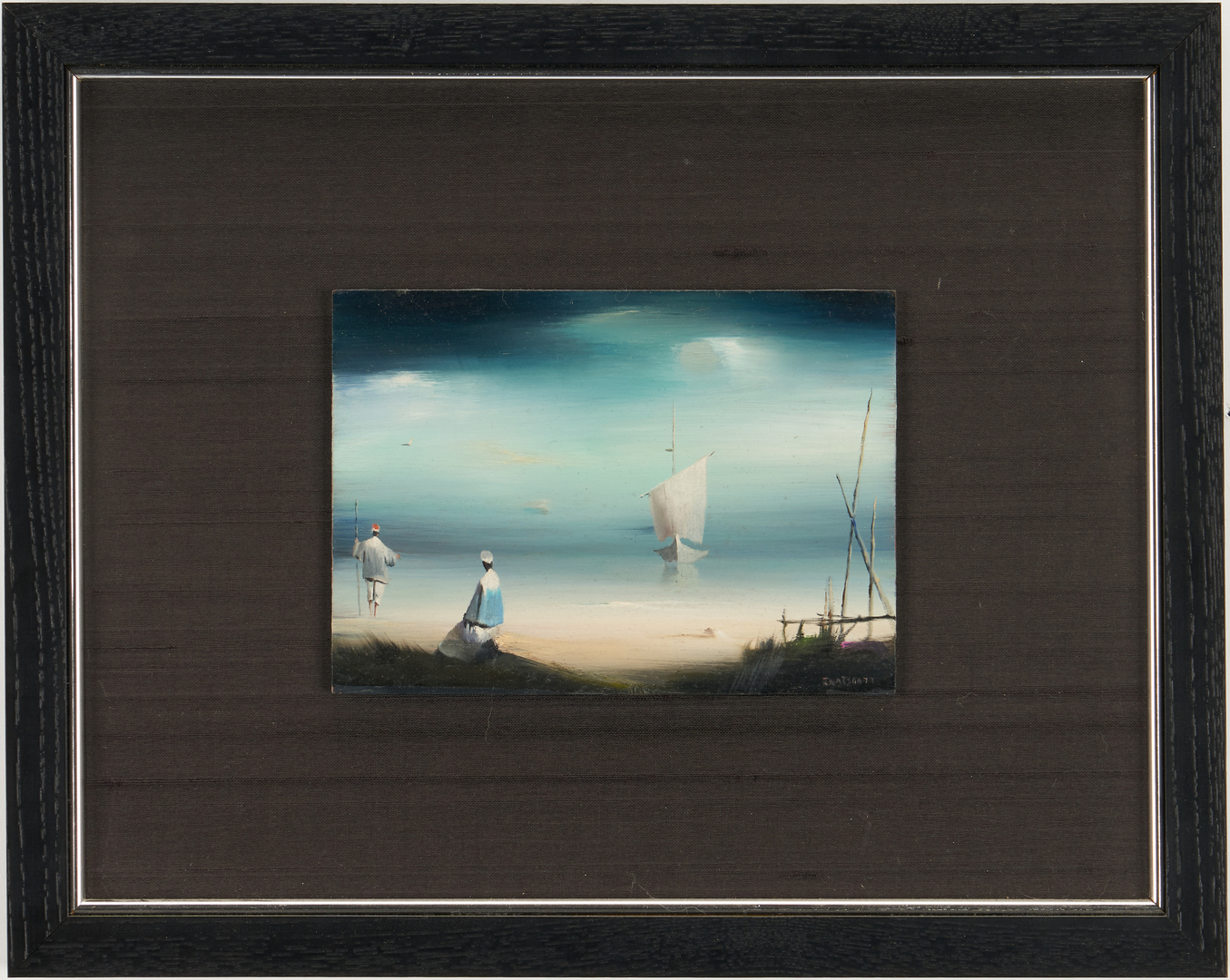 Lot 501: 2 Robert Watson Surrealist Oil Paintings