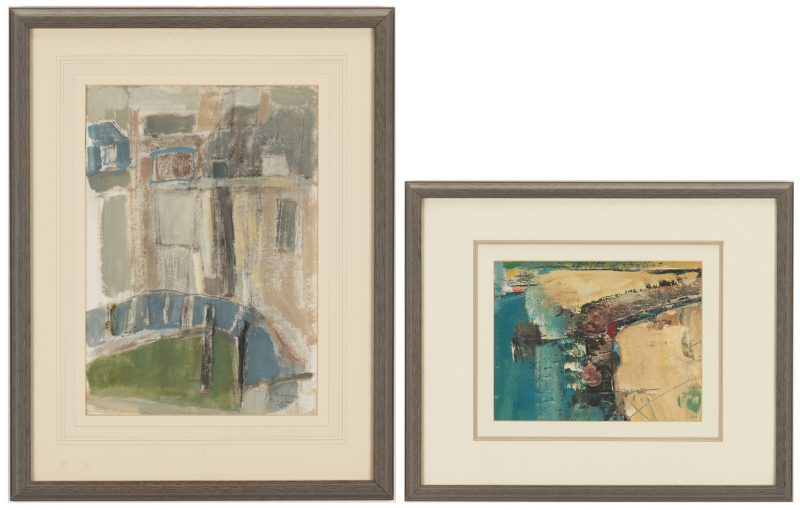 Lot 505: 2 Abstract Paintings incl. Phillip Jones
