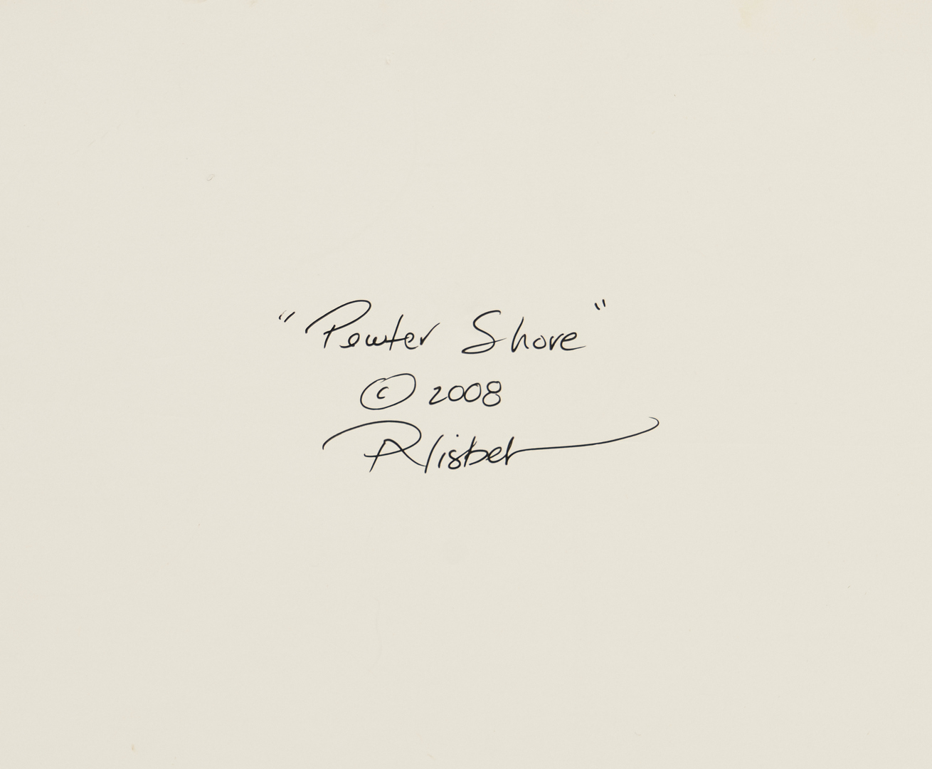 Lot 508: Peter A. Nisbet O/B, Pewter Shore