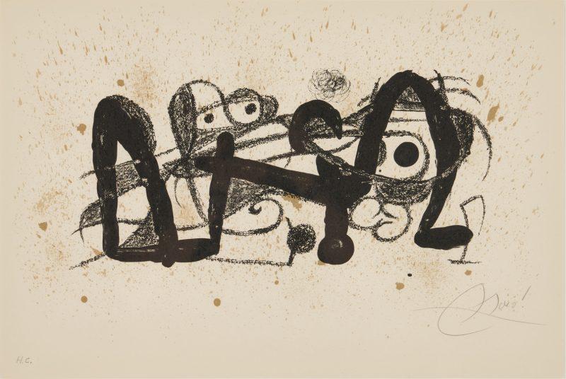 Lot 510: Joan Miro Lithograph, Escultor Portugal