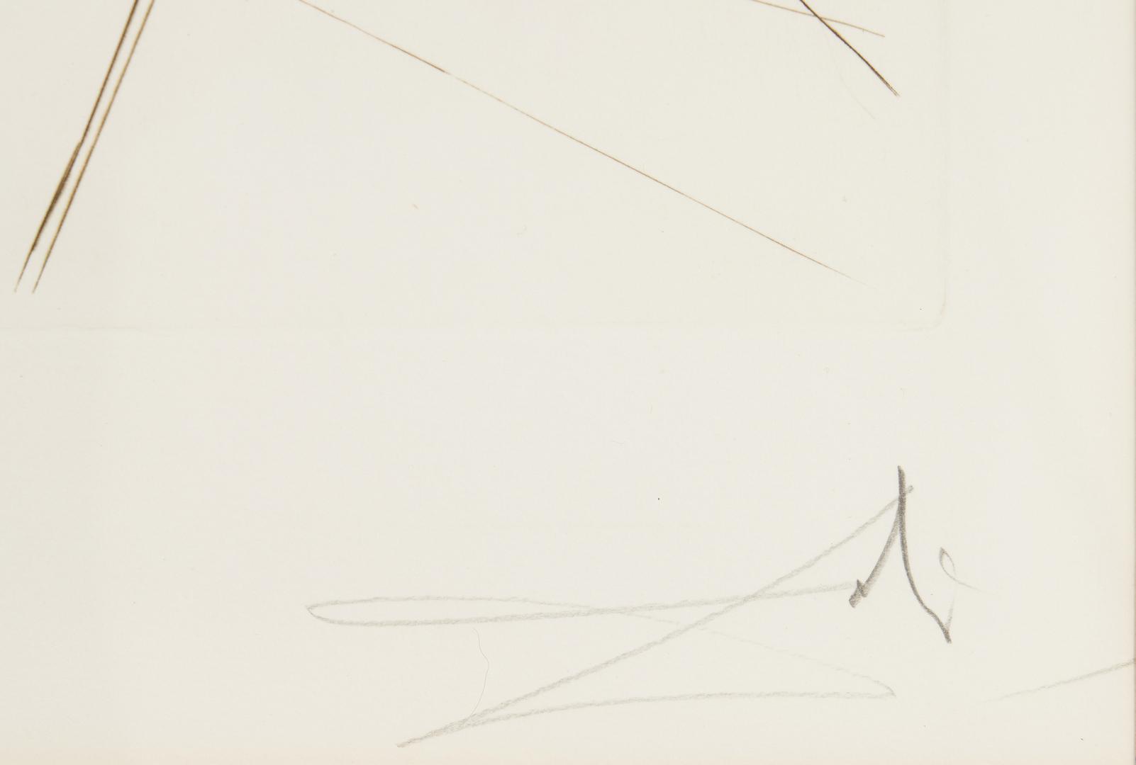 Lot 511: 4 Salvador Dali Engravings, Famous Loves Series