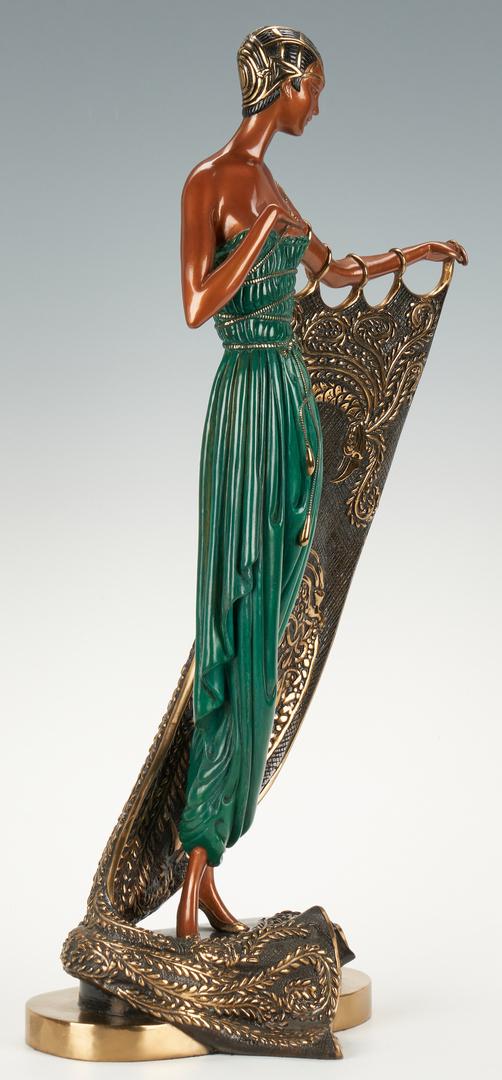 Lot 514: Erte Bronze, Emerald Night