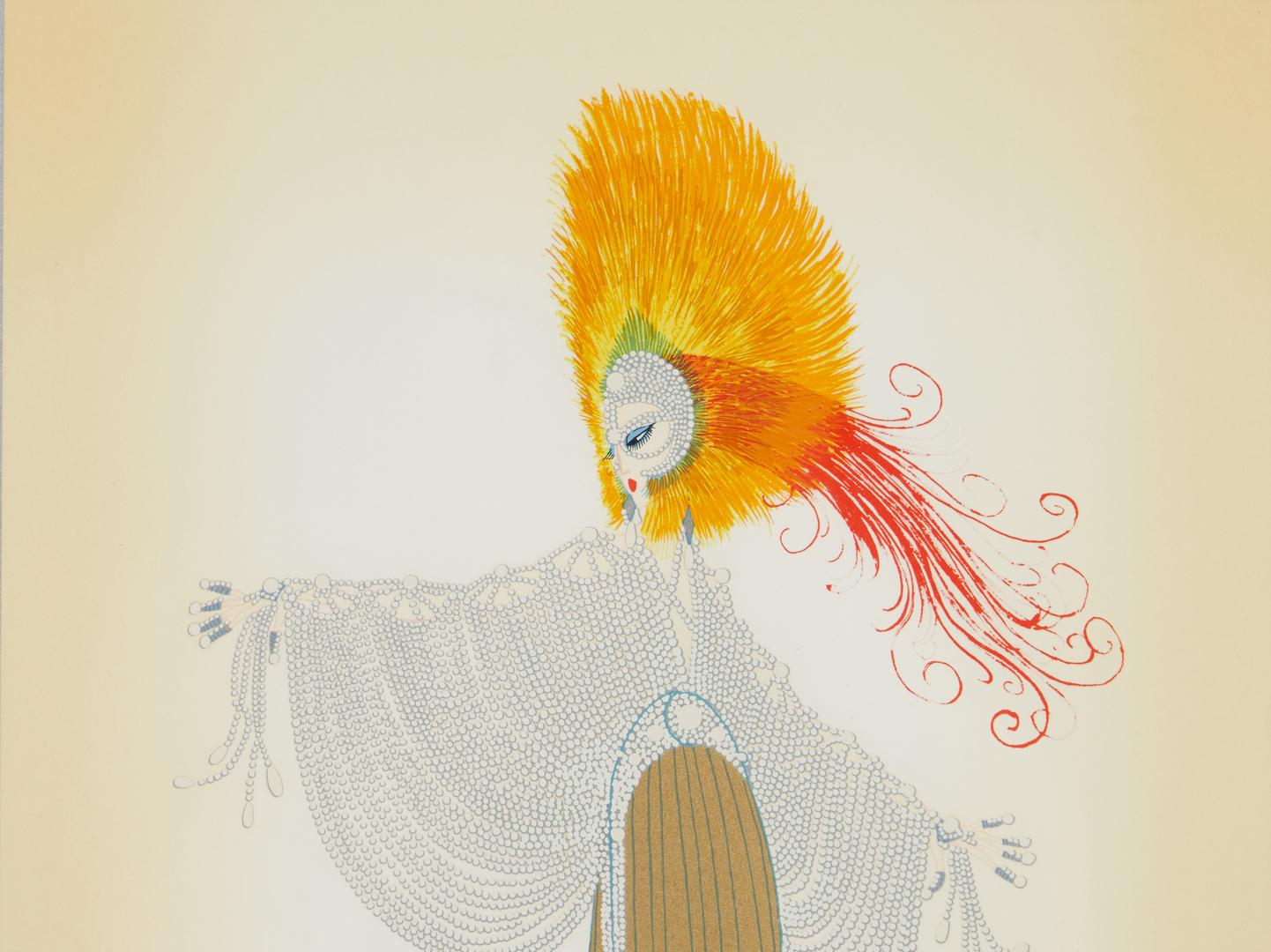 Lot 515: Framed Erte Print and Pierre Bonnard Opera Program
