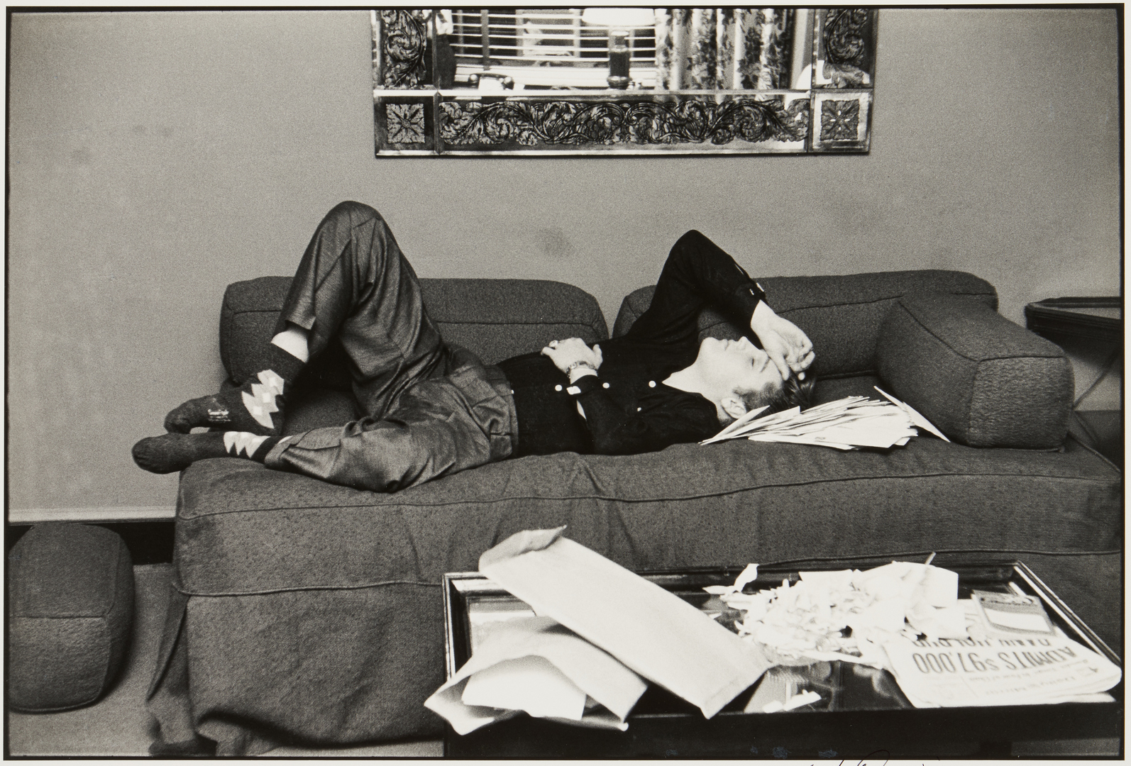 Lot 519: Alfred Wertheimer Photograph, Elvis Presley, Nap at the Warwick