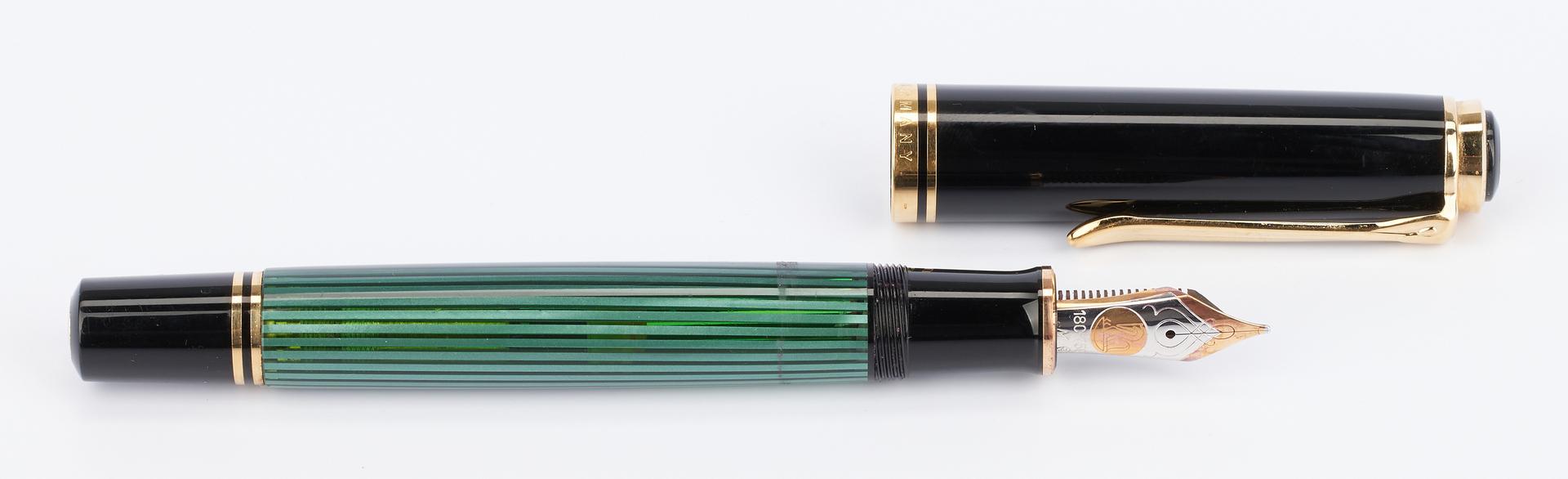 Lot 51: 2 Pelikan Fountain Pens, incl. Concerto, Green Str