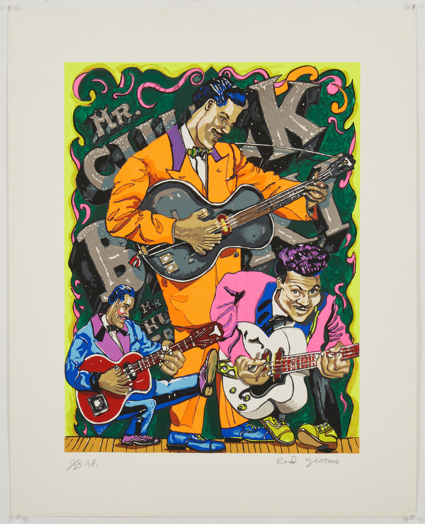 """Lot 524: Red Grooms """"Chuck Berry"""" Print"""