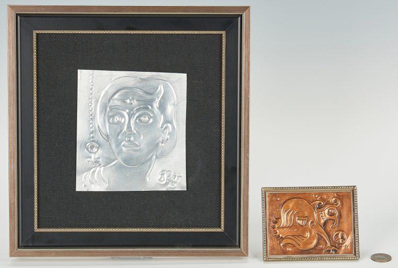 Lot 526: 2 Greg Ridley Framed Metal Plaques