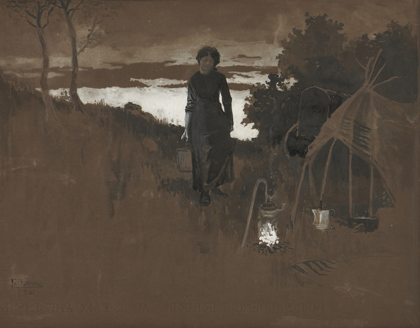 Lot 528: Joseph Pennell Gypsy Illustration
