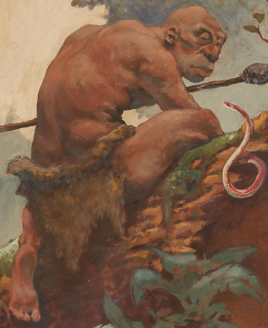 "Lot 529: Richard Hescox O/B Painting, ""The Hunter"""