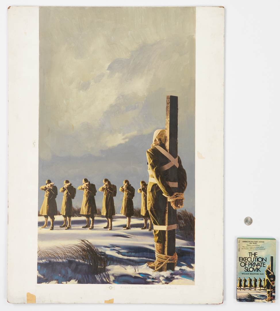 Lot 531: Book Illustration Painting, The Execution of Private Slovik & Book