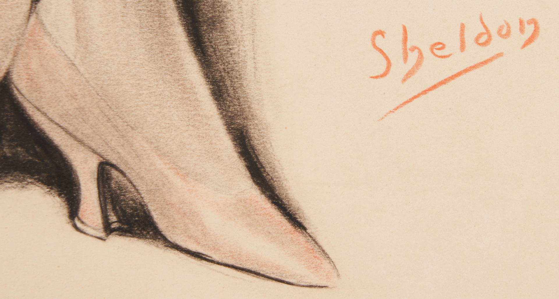 "Lot 532: Charles Gates Sheldon Illustration Art, ""Coquette,"" Hacker Label"