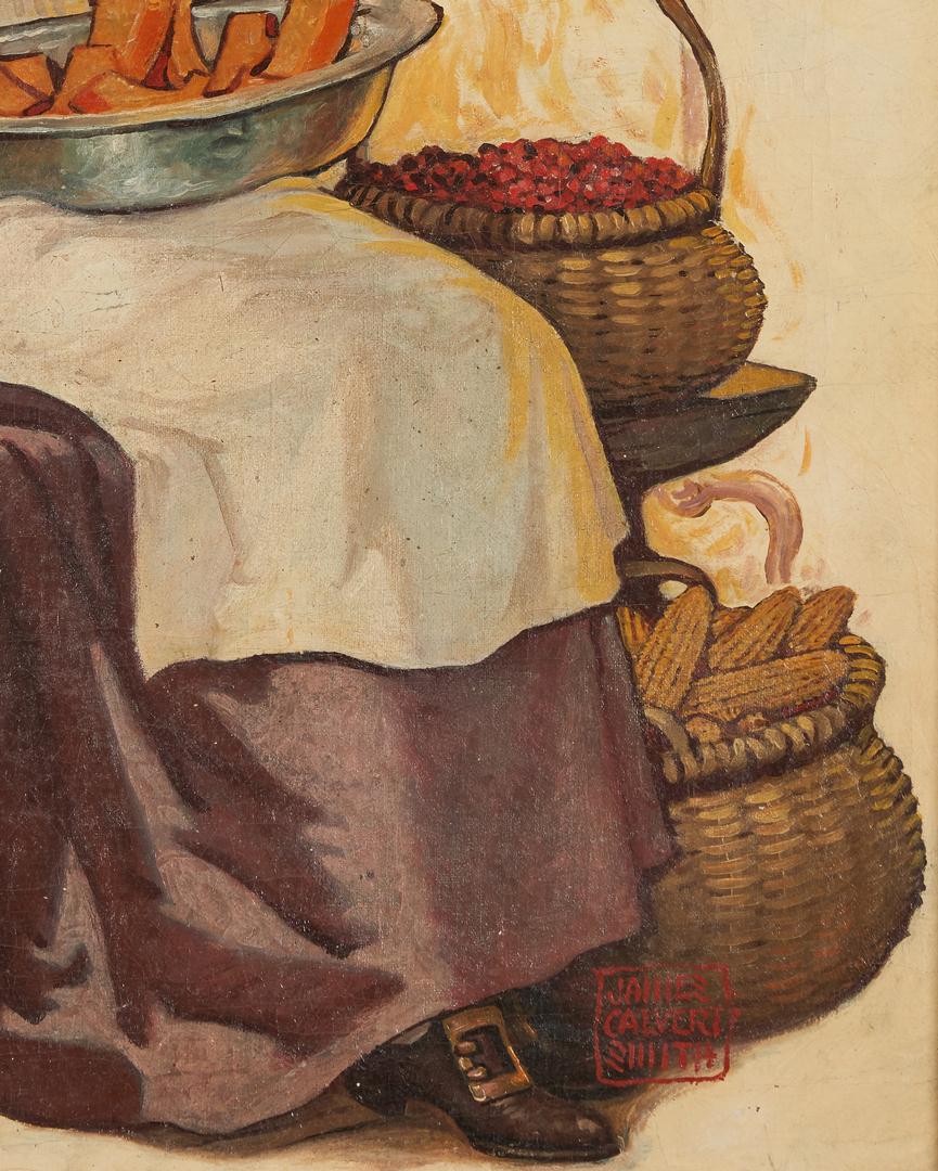 Lot 533: James Calvert Smith Illustration Painting, Pumpkin