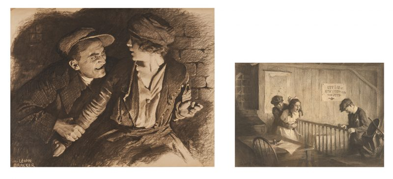 Lot 535: 2 Early 20th C. Illustrations by Bracker, Brehm